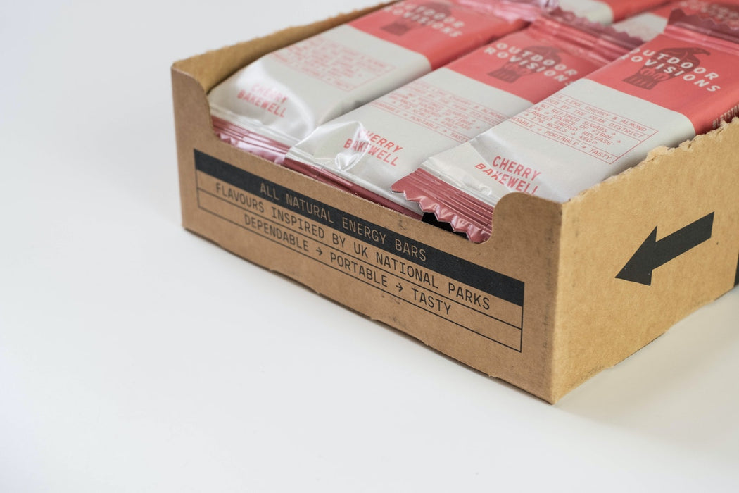 Outdoor Provisions, Natural Energy Bars, 18 X Cherry Bakewell