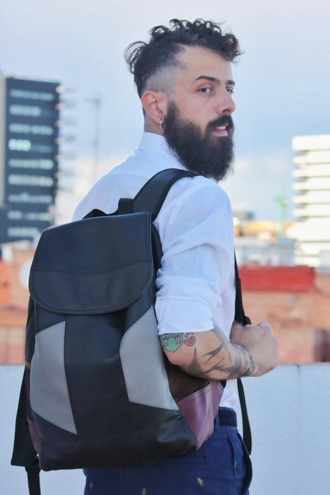 Shoreditch Backpack | Handmade Backpack Made From Recycled Materials