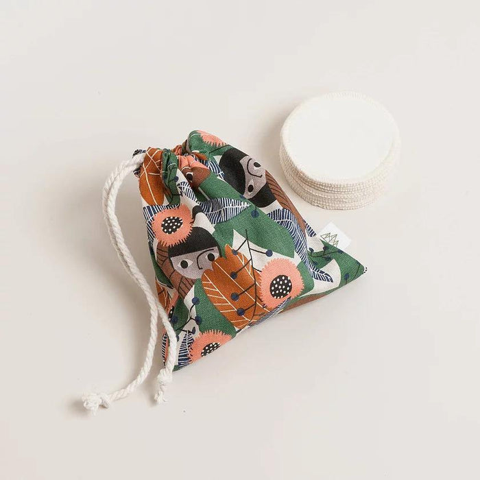 8 Reusable Hemp & Cotton Pads With Organic Cotton Wash Bag