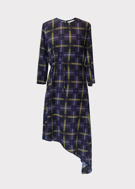 Azalea Dress In Spot Plaid Print| Made from Eco Friendly Viscose - Just Think Eco
