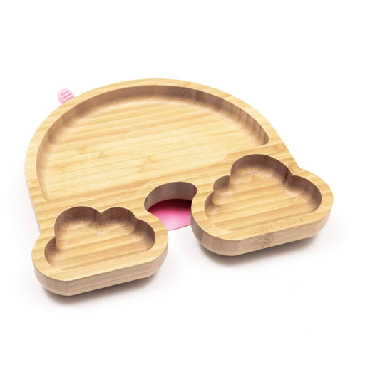 Baby Bamboo Weaning Suction Section Plate - Over The Rainbow - Just Think Eco