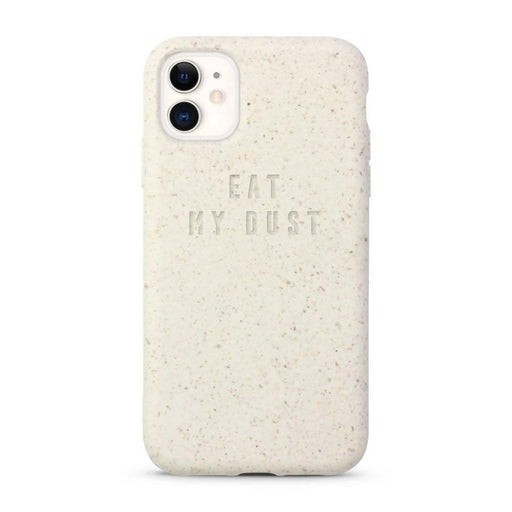 Compostable iPhone Case, White, Eat My Dust | Listening Store - Just Think Eco