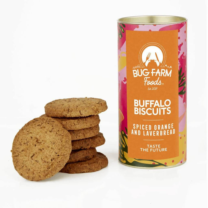 Buffalo Biscuits – Spiced Orange And Laverbread | Bug Farm Foods