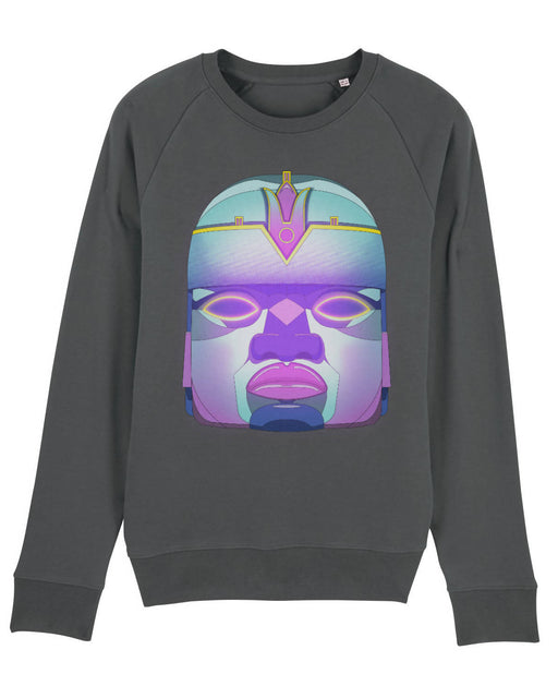 Cosmic Fangs Men 'Colossal Head' Sustainable Sweatshirt - Just Think Eco