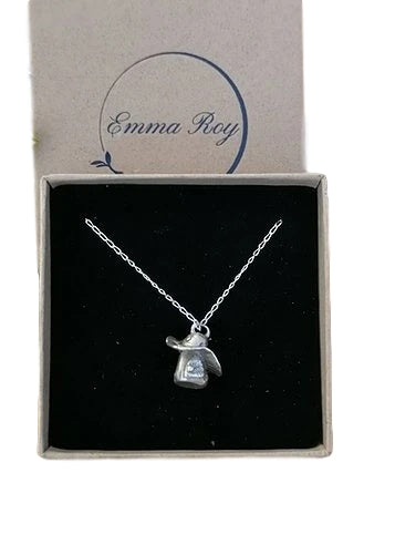Jewellery By Emma Roy, Forest Fairy House Necklace, Pure Silver Necklace, Sustainable Jewellery