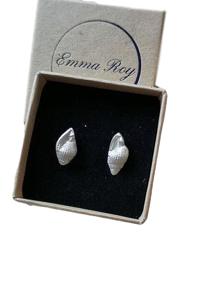 Jewellery By Emma Roy, Shell Stud Earrings, Pure Sterling Silver  Earrings, Sustainable Jewellery