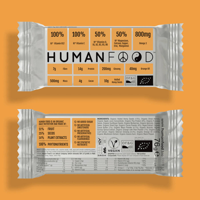 Five pack of Yellow Organic Turmeric Human Food nutrient bar