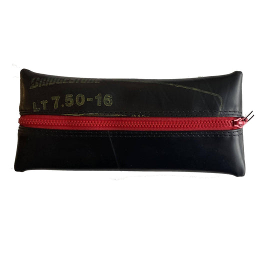 Upcycled Truck Tyre Rubber Flat Pencil Case - Red - Just Think Eco