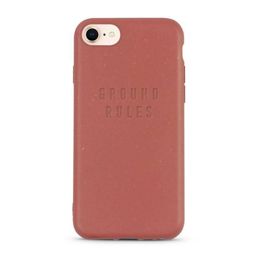 Compostable iPhone Case, Red, Ground Rules| Listening Store - Just Think Eco