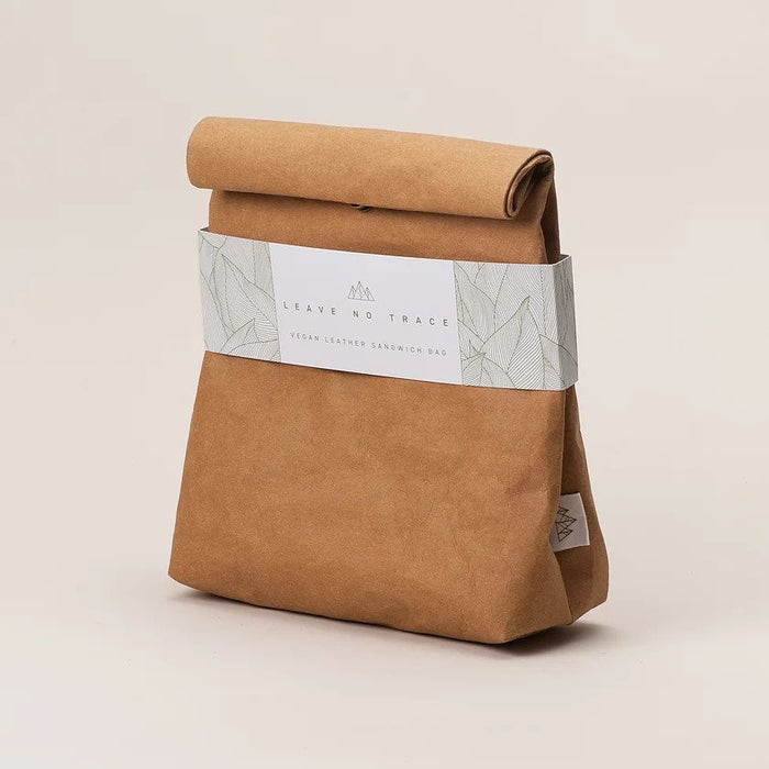 Vegan Leather Lunch Bag - Brown