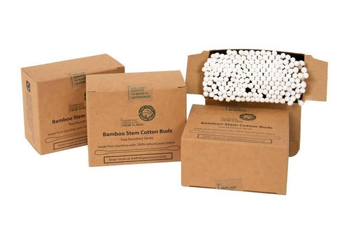 Eco-Friendly Twin Head Bamboo Cotton Buds 4 Box Bundle - 800 Sticks - Just Think Eco