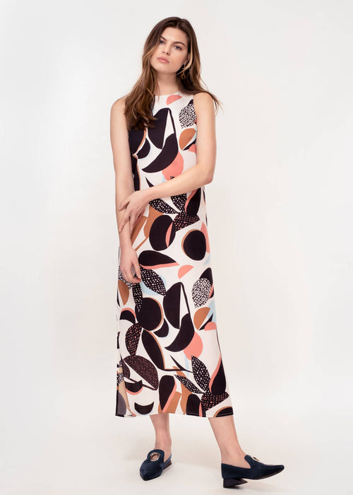 Thalia Dress In Abstract Floral Print | Made from 100% Recycled Polyester
