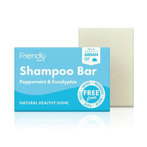 Friendly Soap - Shampoo Bar Peppermint & Eucalyptus 95g - Just Think Eco