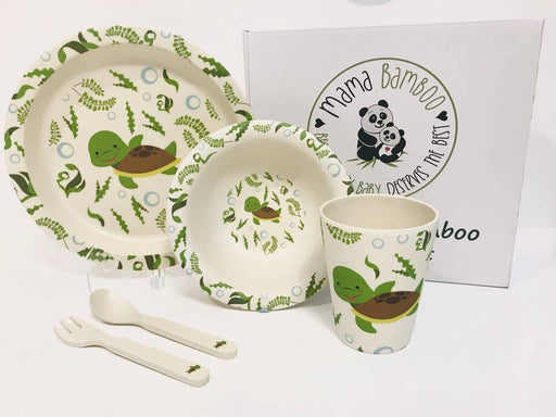 Teresa the Sea Turtle Gift Dinner Set| Mama Bamboo - Just Think Eco