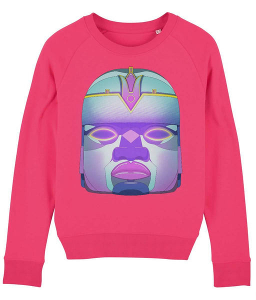 Cosmic Fangs Women 'Colossal Head' Sustainable Sweatshirt - Just Think Eco