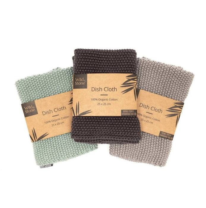 Dish Cloths - 100% Organic Cotton - Just Think Eco