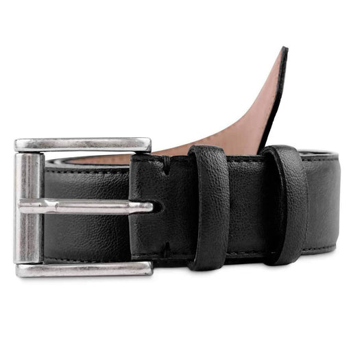 Taylor Vegan Leather Belt In Black | Watson & Wolfe - Just Think Eco