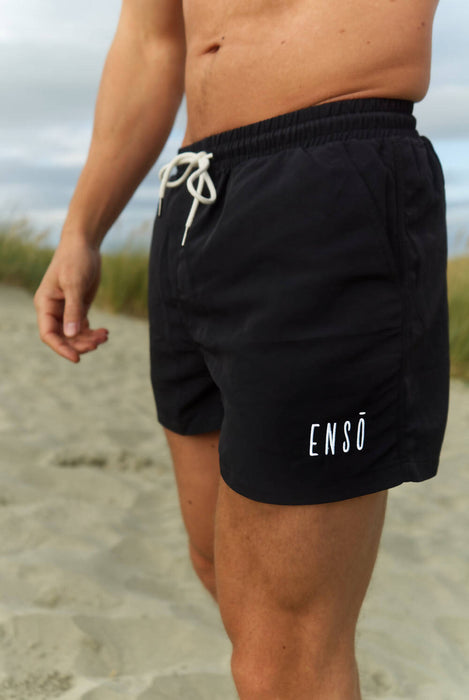 The Orca| Sustainable Swim Shorts - Black
