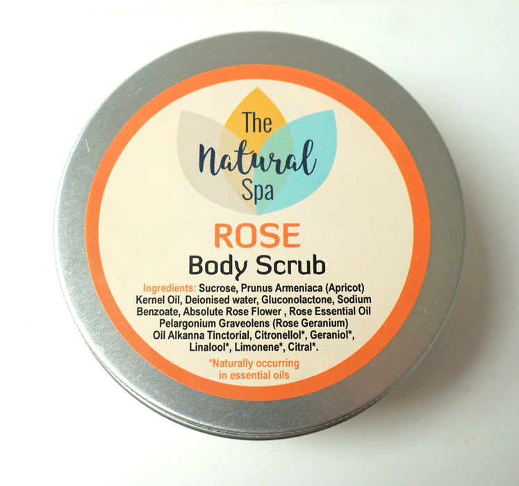 Natural Rose Sugar body Scrub 200g