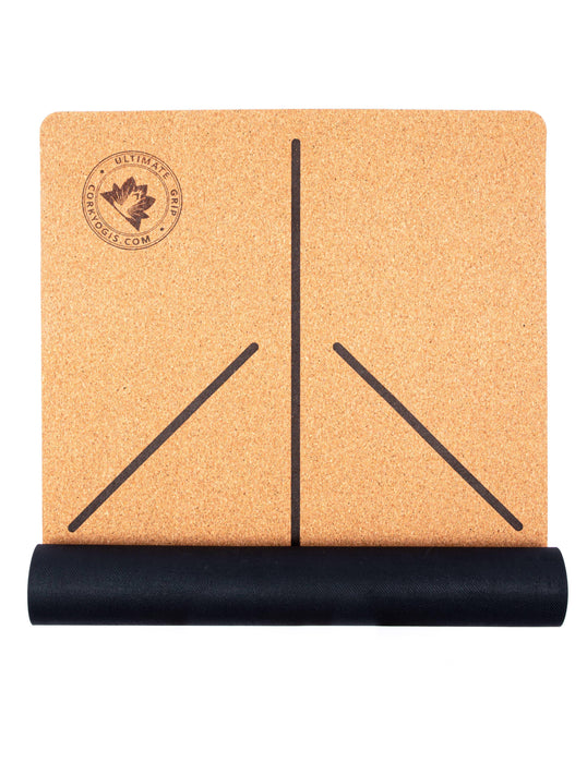 Cork Yoga Mat With Alignment Lines   Cork Yogis - Just Think Eco