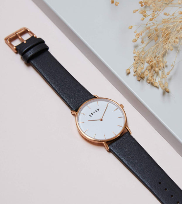Rose Gold & Black | CLASSIC | Vegan watch by Votch
