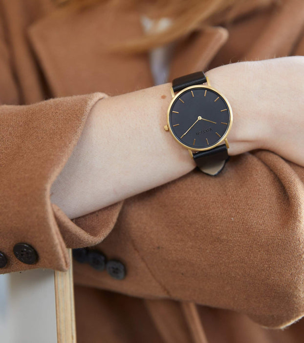 Gold & Black With Classic | CLASSIC | Vegan watch by Votch