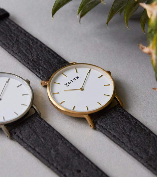 Gold & Piñatex | CLASSIC | Vegan watch by Votch