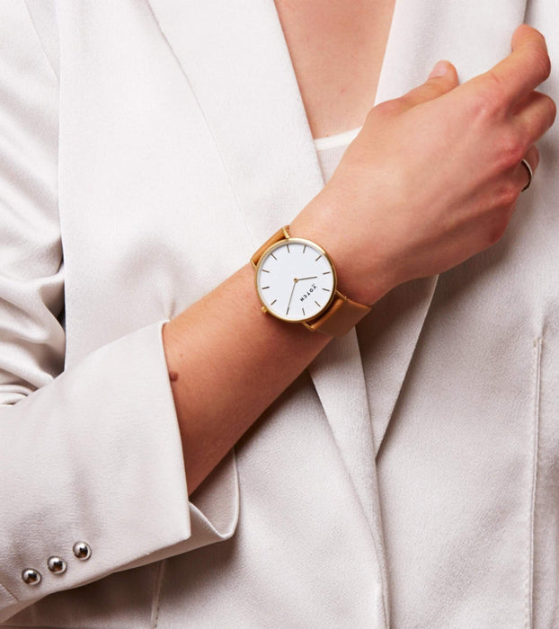 Votch, Gold & Tan | CLASSIC | Vegan watch by Votch