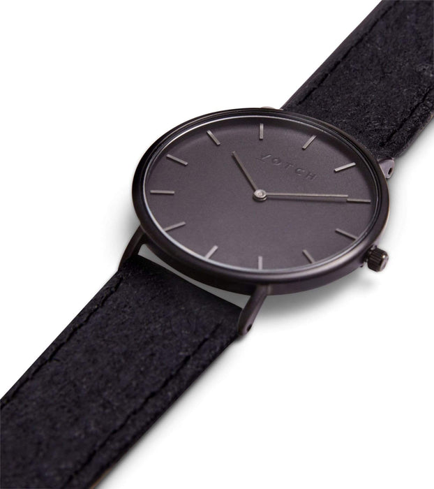 Black & Piñatex with Black | CLASSIC | Vegan watch by Votch