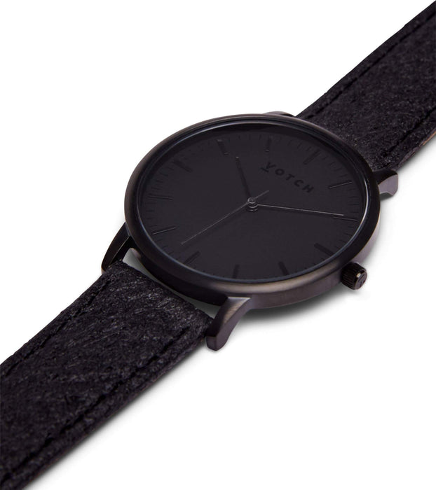 Black & Piñatex With Black | MOMENT | Vegan watch by Votch