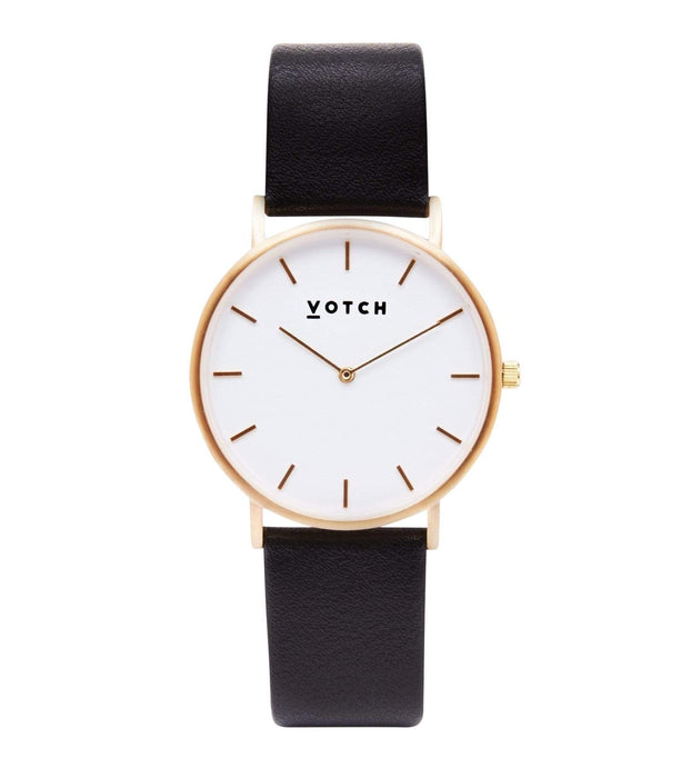 Votch, Gold & Black | CLASSIC | Vegan watch by Votch