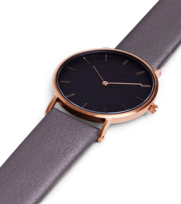 Rose Gold & Black With Dark Grey | CLASSIC | Vegan watch by Votch