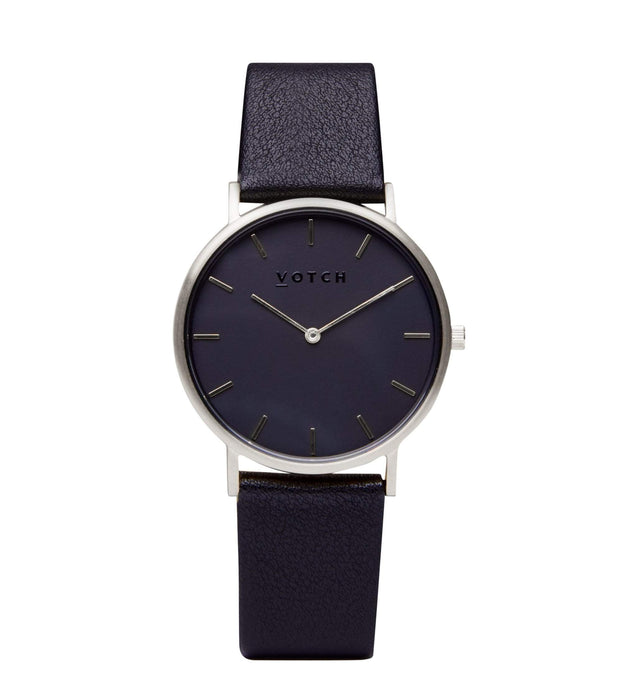 Silver & Black With Black | CLASSIC | Vegan watch by Votch
