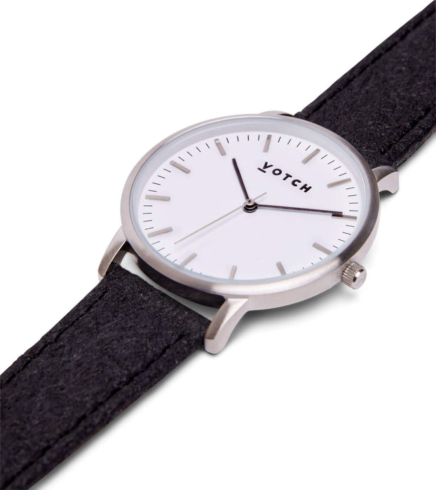 Silver & Piñatex | MOMENT | Vegan watch by Votch