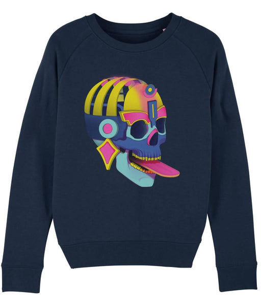 Cosmic Fangs Women 'Death' Sustainable Sweatshirt - Just Think Eco