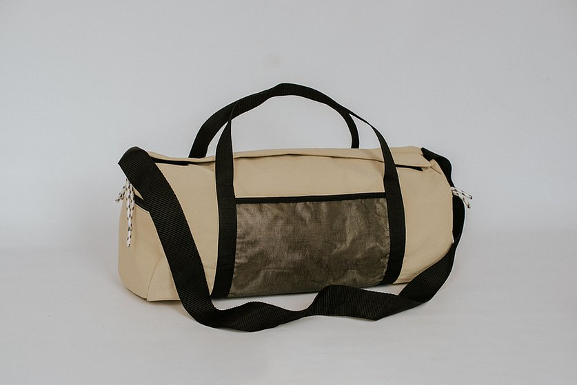 Sustainable upcycled barrel Wandering Bell sports bag - Just Think Eco