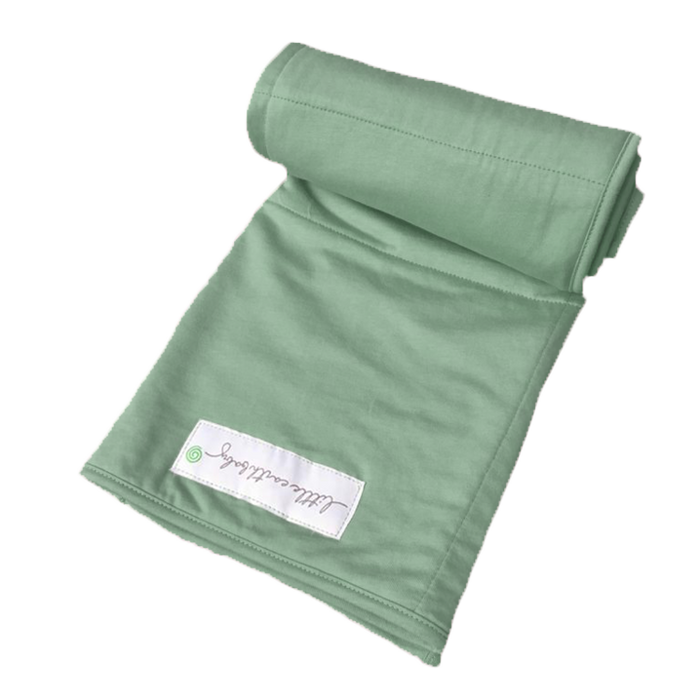 Pure earth collection- Bamboo baby blanket, emerald green