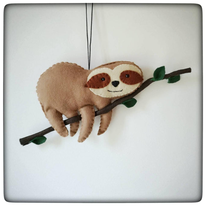 Felt Sloth Decoration