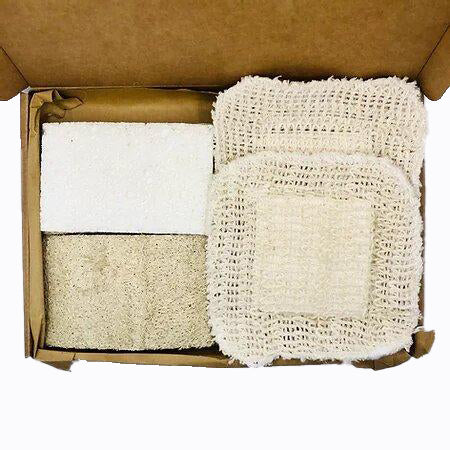 Eco friendly dish sponges and hemp cloth pad. Sustainable washing up double pack - Just Think Eco