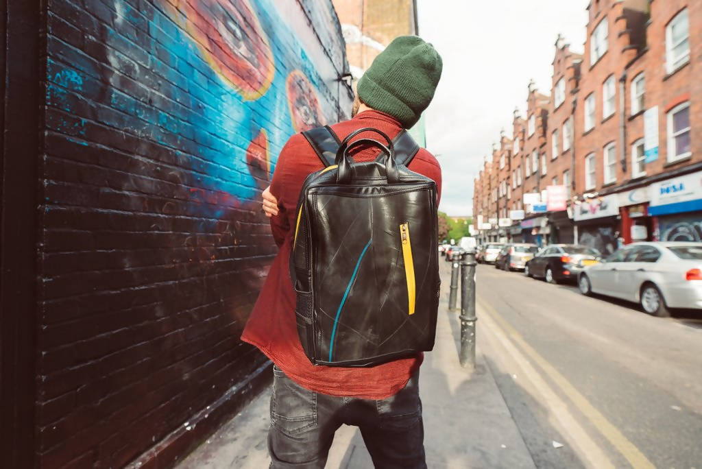 Hackney Backpack | Handmade Backpack Made From Recycled Tyres