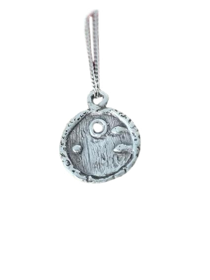 Jewellery By Emma Roy, Fairy door Necklace, Silver clay Necklace