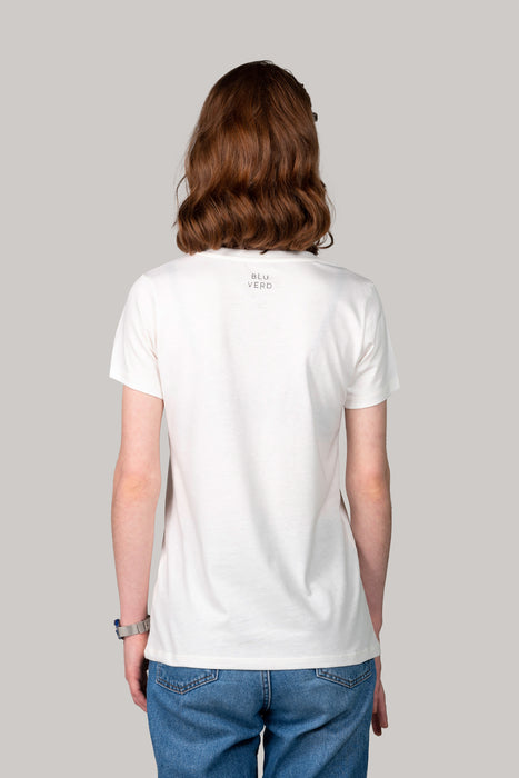 Organic and Sustainable Off White - Bluverd female V Neck T shirt