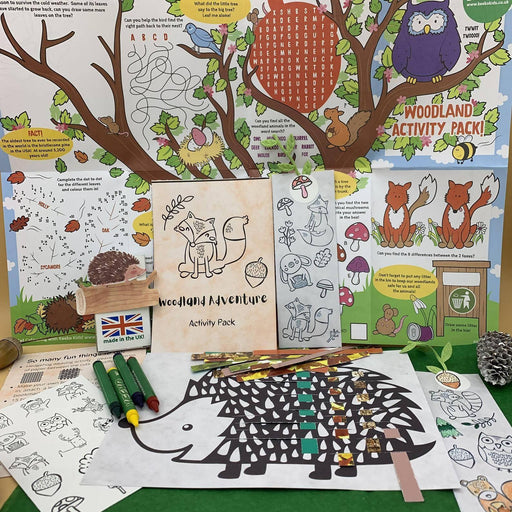 Woodland Animals Children Activity Pack, Forest Kids Arts Crafts, Eco Friendly Plastic Free, Nature Fall Christmas/ Birthday Party Gift/ Toy - Just Think Eco