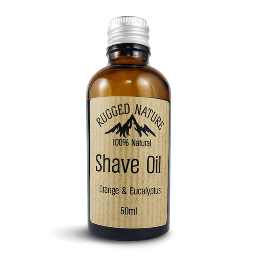 Rugged Nature 100% Natural Shave Oil, Orange and Eucalyptus - 50ml - Just Think Eco