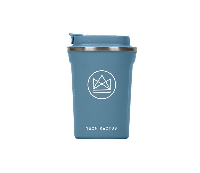Neon Kactus Blue Reusable Stainless steal Coffee Cup 12oz