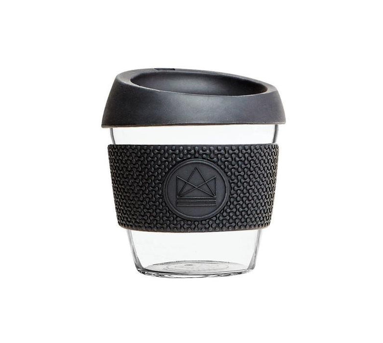 Neon Kactus Black Reusable Glass Coffee Cup 8oz