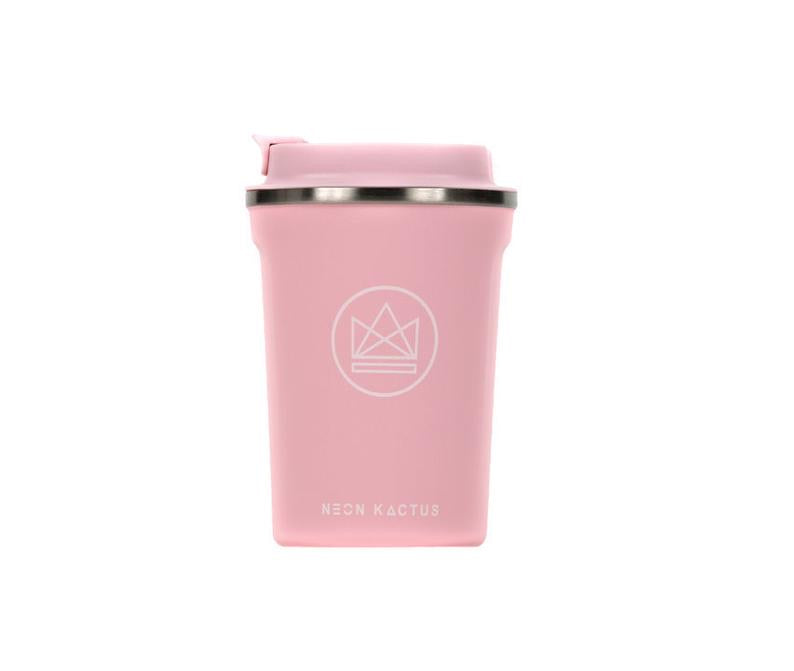 Neon Kactus Pink Reusable Stainless steal Coffee Cup 12oz