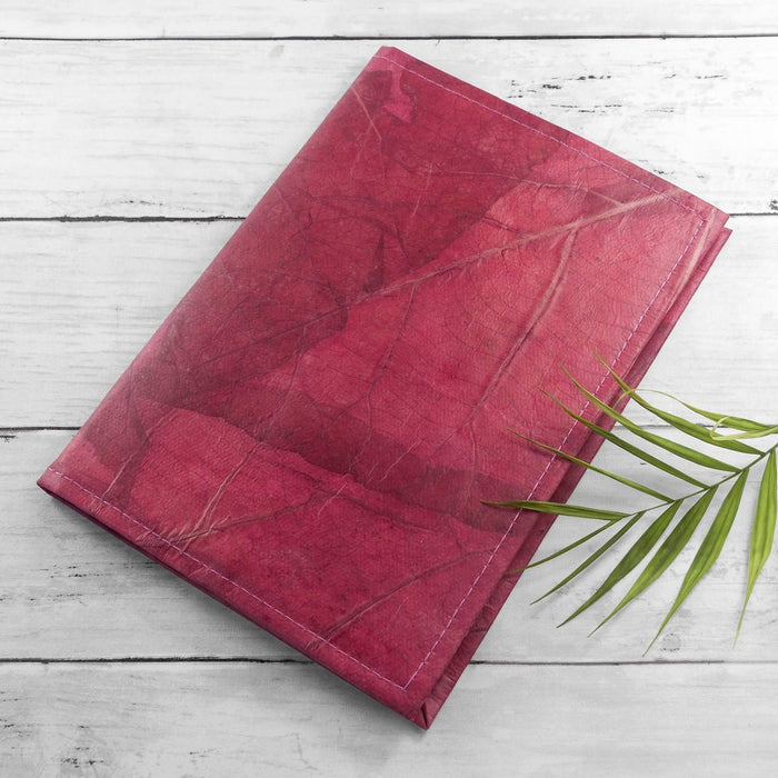 A5 Refillable Leaf Leather Journal | Choose From 9 Colours