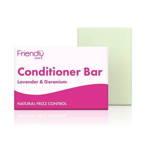 Friendly Soap - Lavender & Geranium Conditioner Bar 95g - Just Think Eco