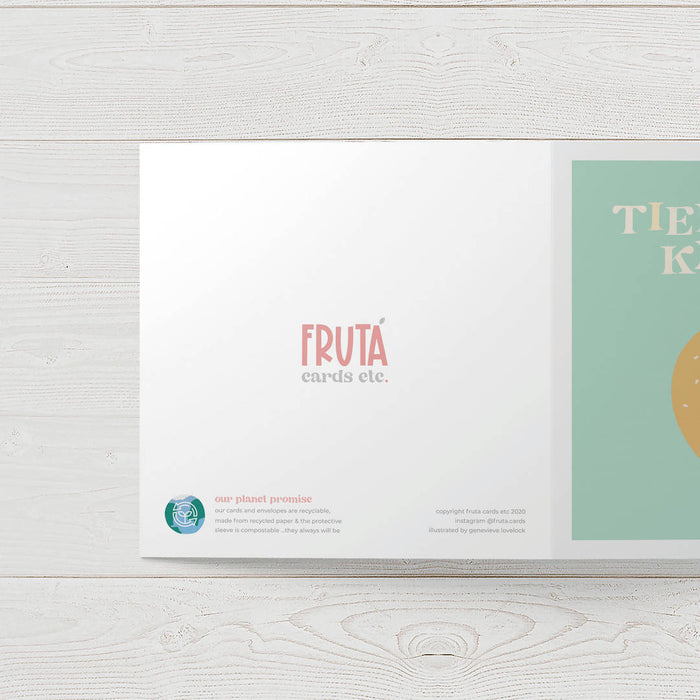 Fruta Tied the Knot Wedding card